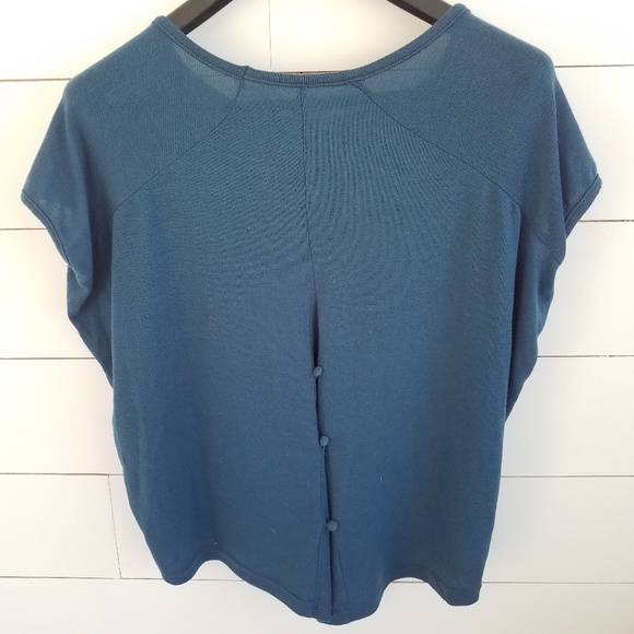 nine 1 eight Tops - Deep Turquoise Knitted baggy top (A5)